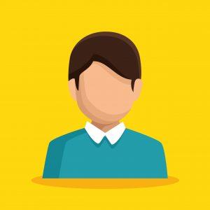 businessman character avatar isolated vector illustration design